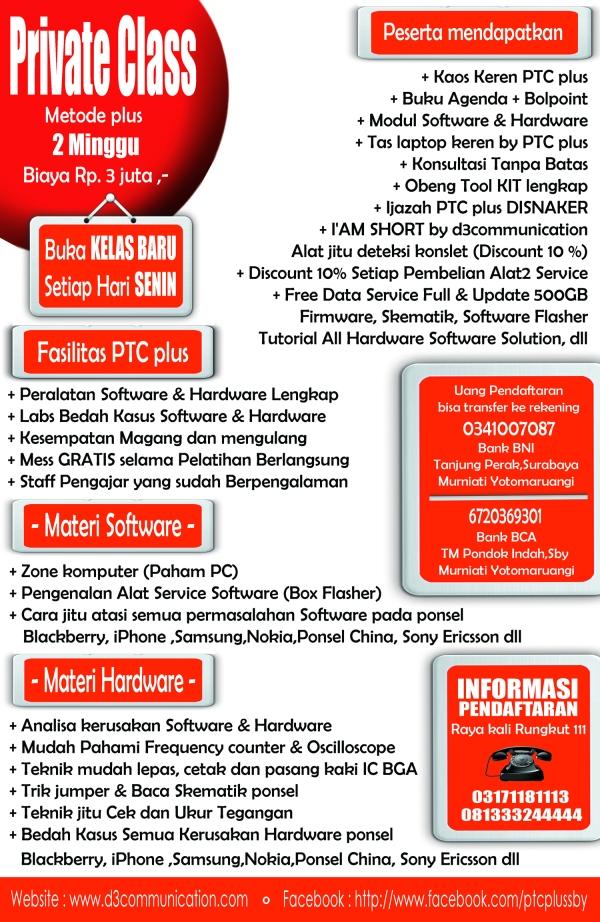 PTC plus (Ponsel Training Center) PUSAT PELATIHAN TEKNISI PONSEL di Surabaya JL Raya Kali Rungkut No : 111, Surabaya, indonesia - No Telp : (031) 71181113 - 081333244444
