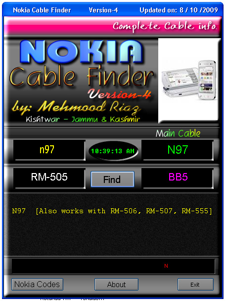 software cable finder Nokia terbaru